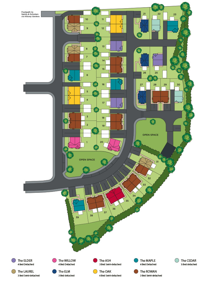 Killuney Meadows Sitemap