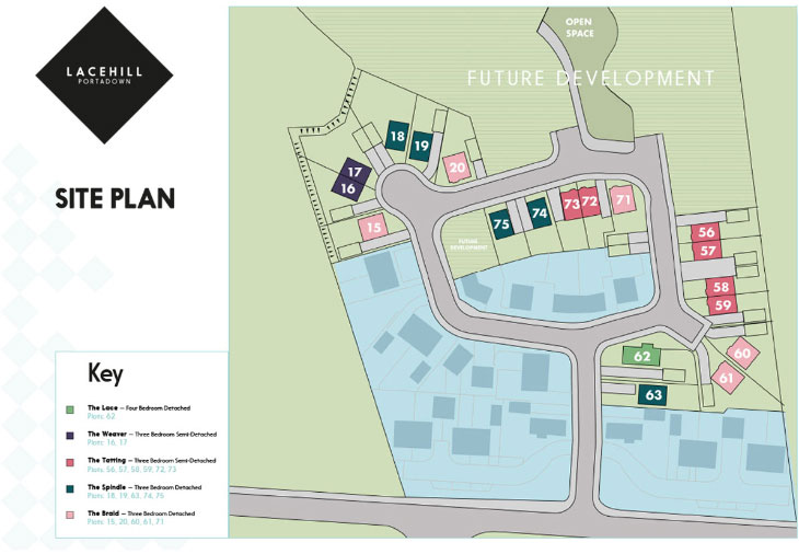 Site Map :: Lacehill, Portadown