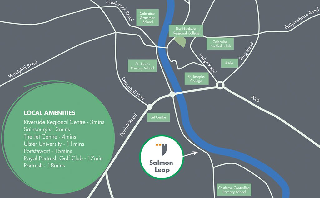 Location Map - Castlewater Gardens