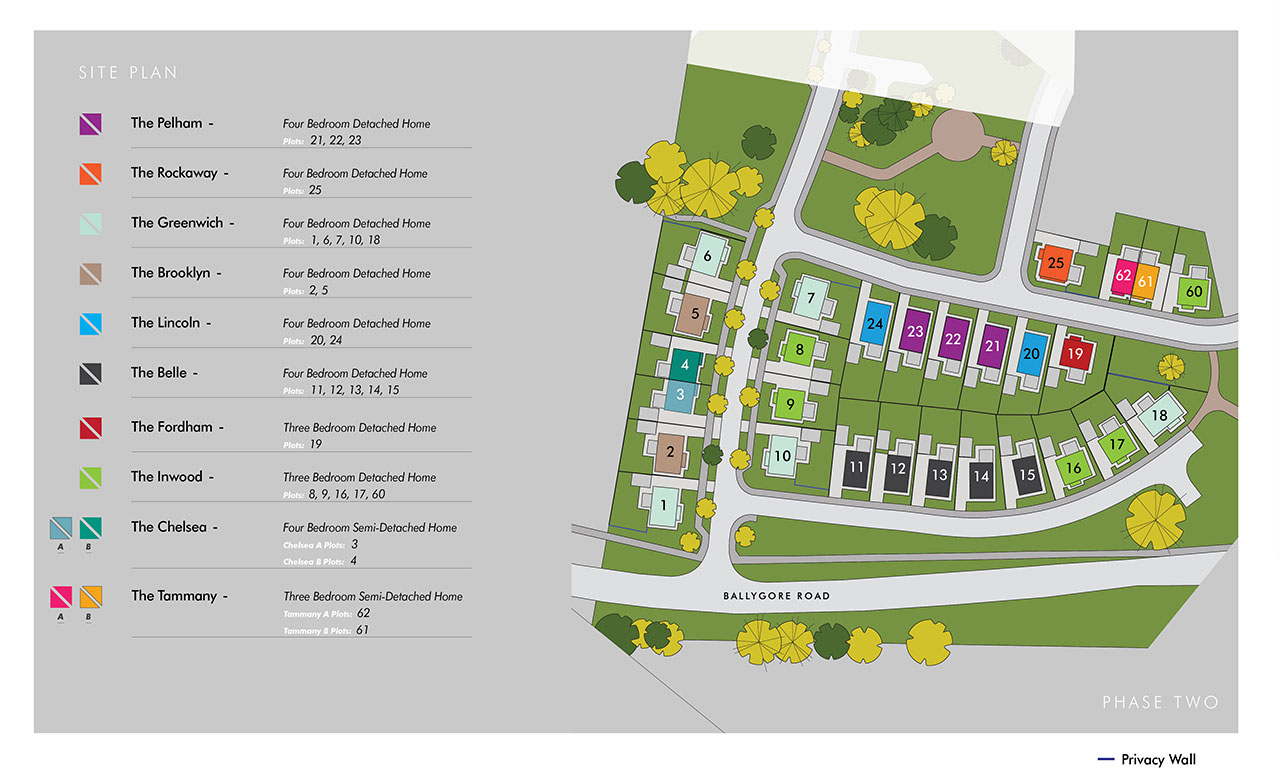 Site Map :: Oakwood, Antrim