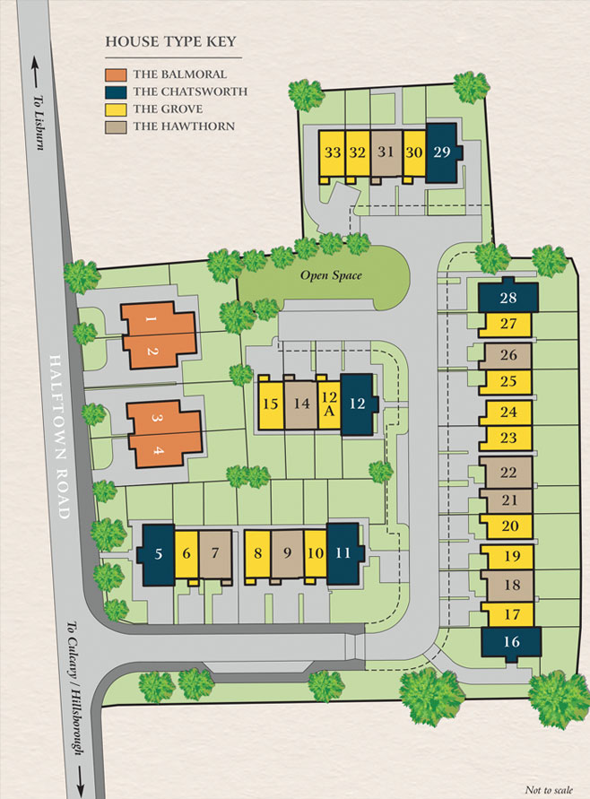 Greenacres Lane, Lisburn - Site Map