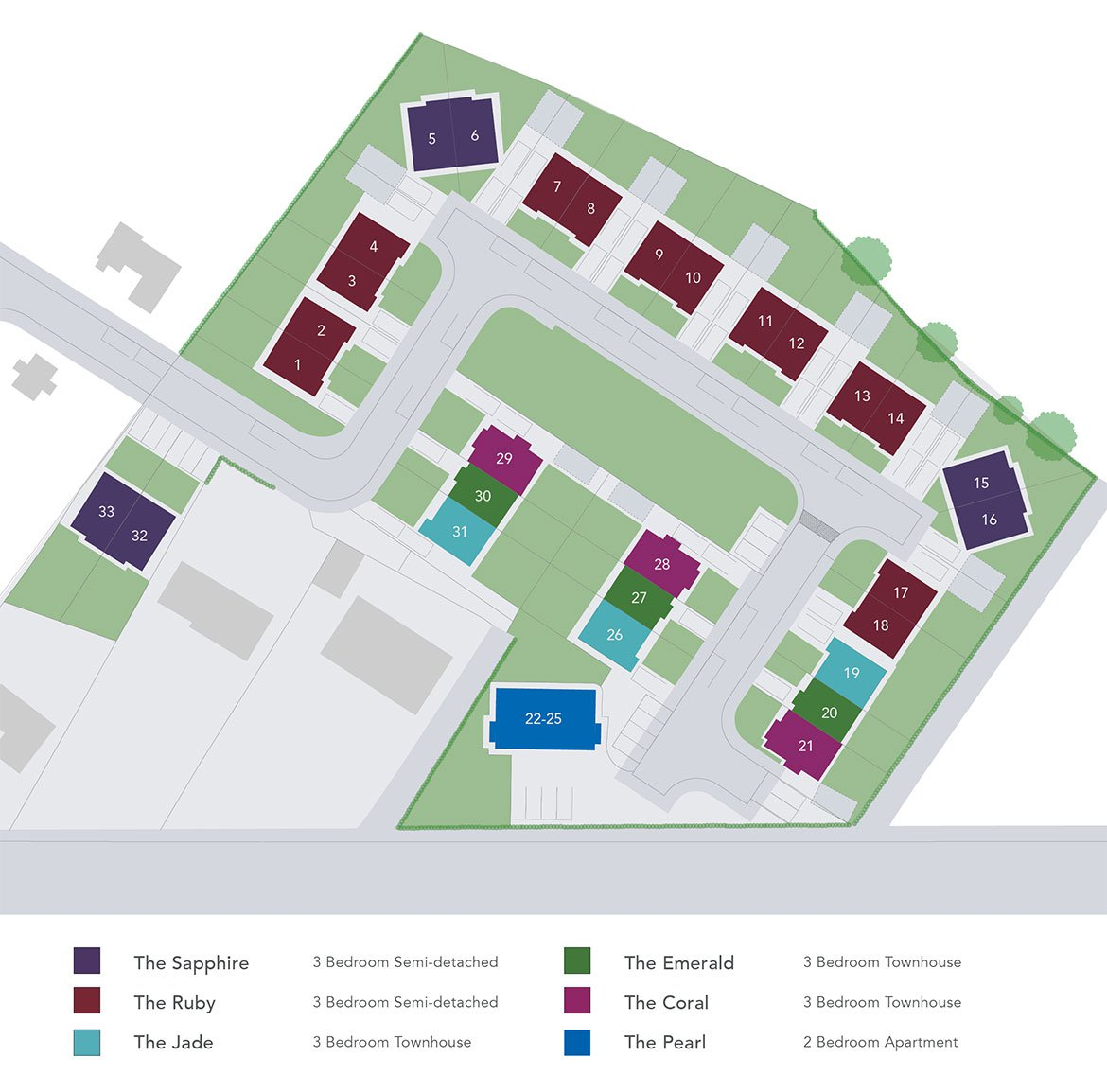 Quarry Hill, Site Map
