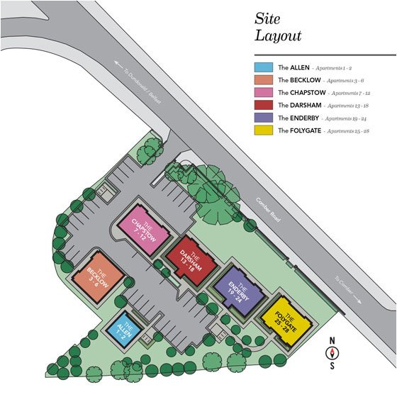 Loughan Hall Site Layout