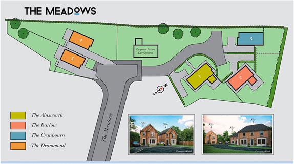 The Meadows Donaghadee Site Layout