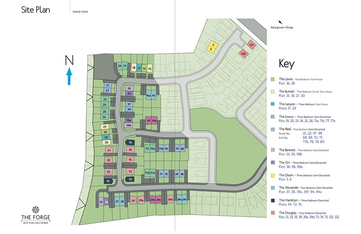 Site Map :: The Forge, Moss Road, Ballygowan