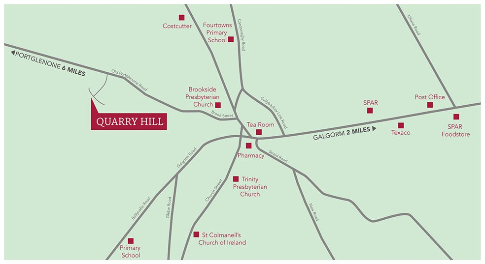Quarry Hill, Location Map