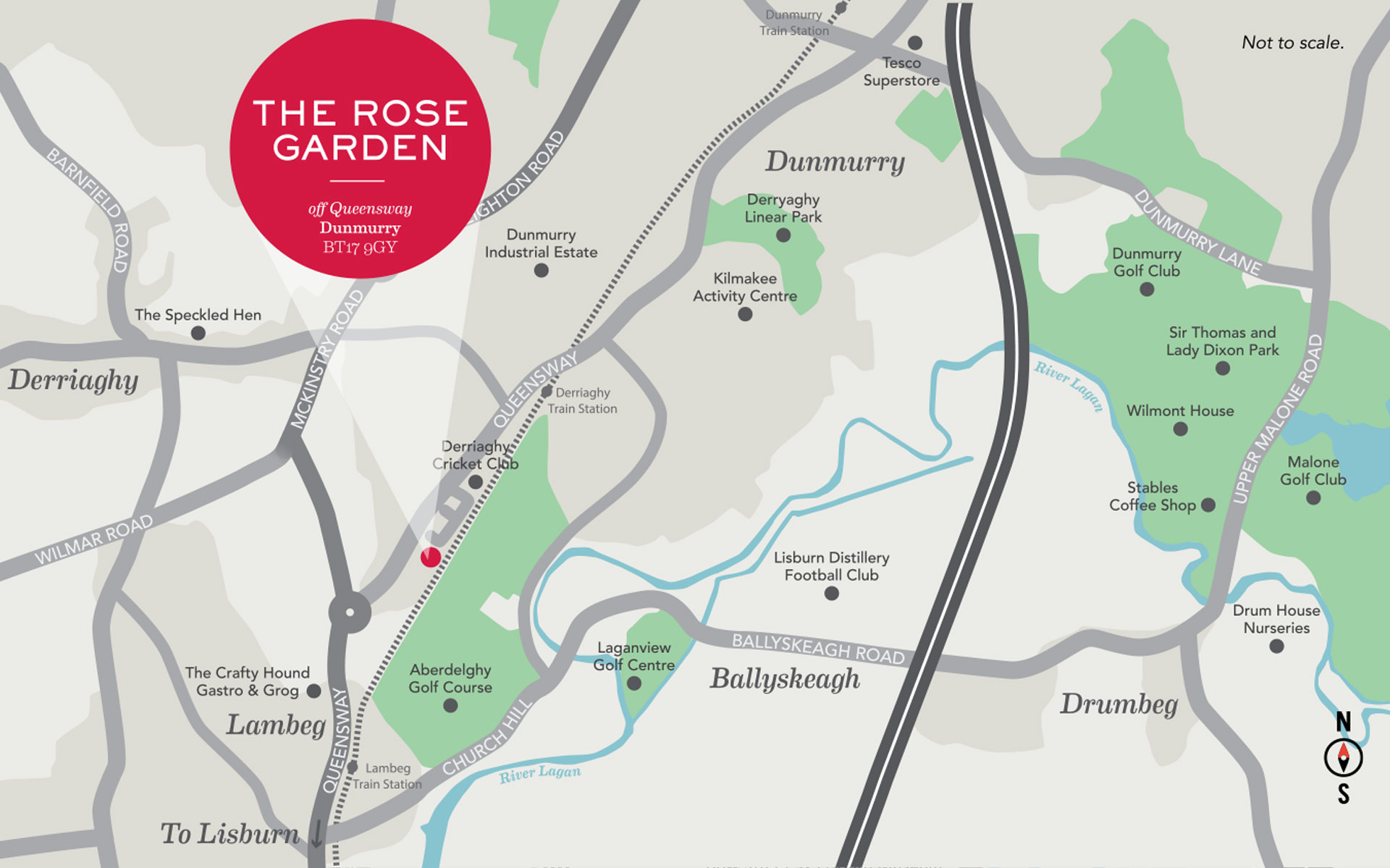 The Rose Garden Location Map