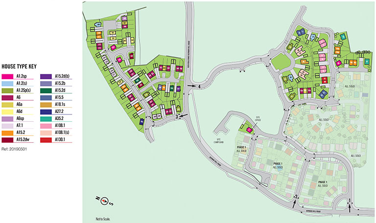 DRUMFORD MEADOW SITE MAP, KERNAN HILL ROAD, PORTADOWN