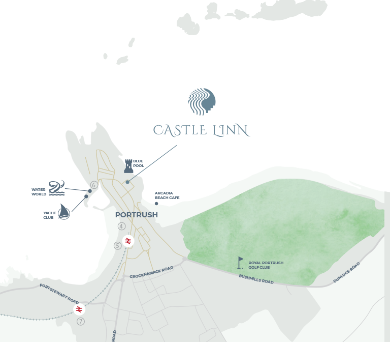Castle Linn, Portrush, Map