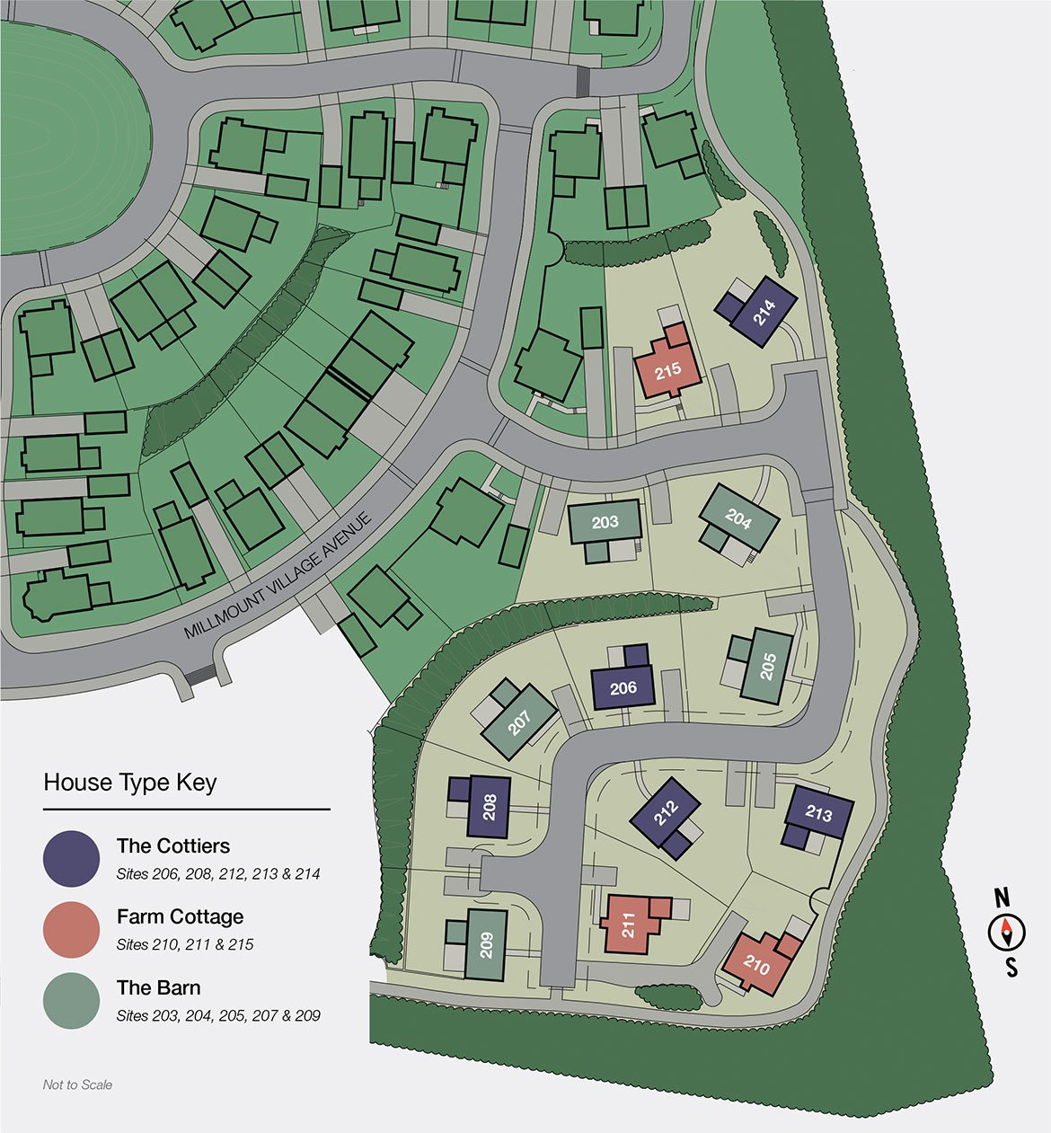 Home Farm Collection, Site Map