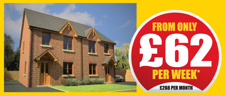 From only £62 per week, £268 per month