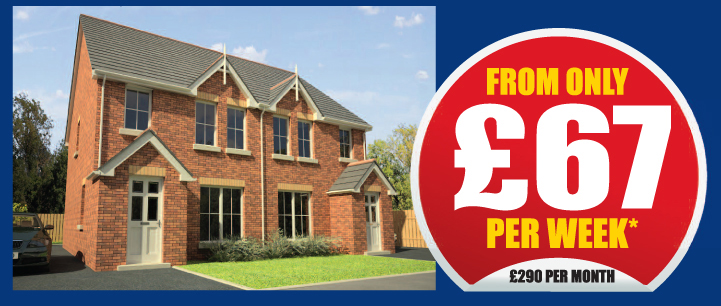 From only £67 per week, £290 per month