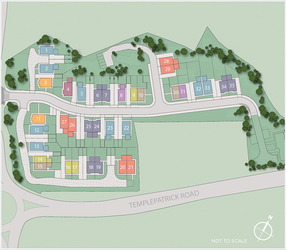 Site Map - Hansons Hall, Ballyclare